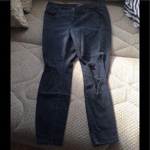 Black Torrid distressed jeans